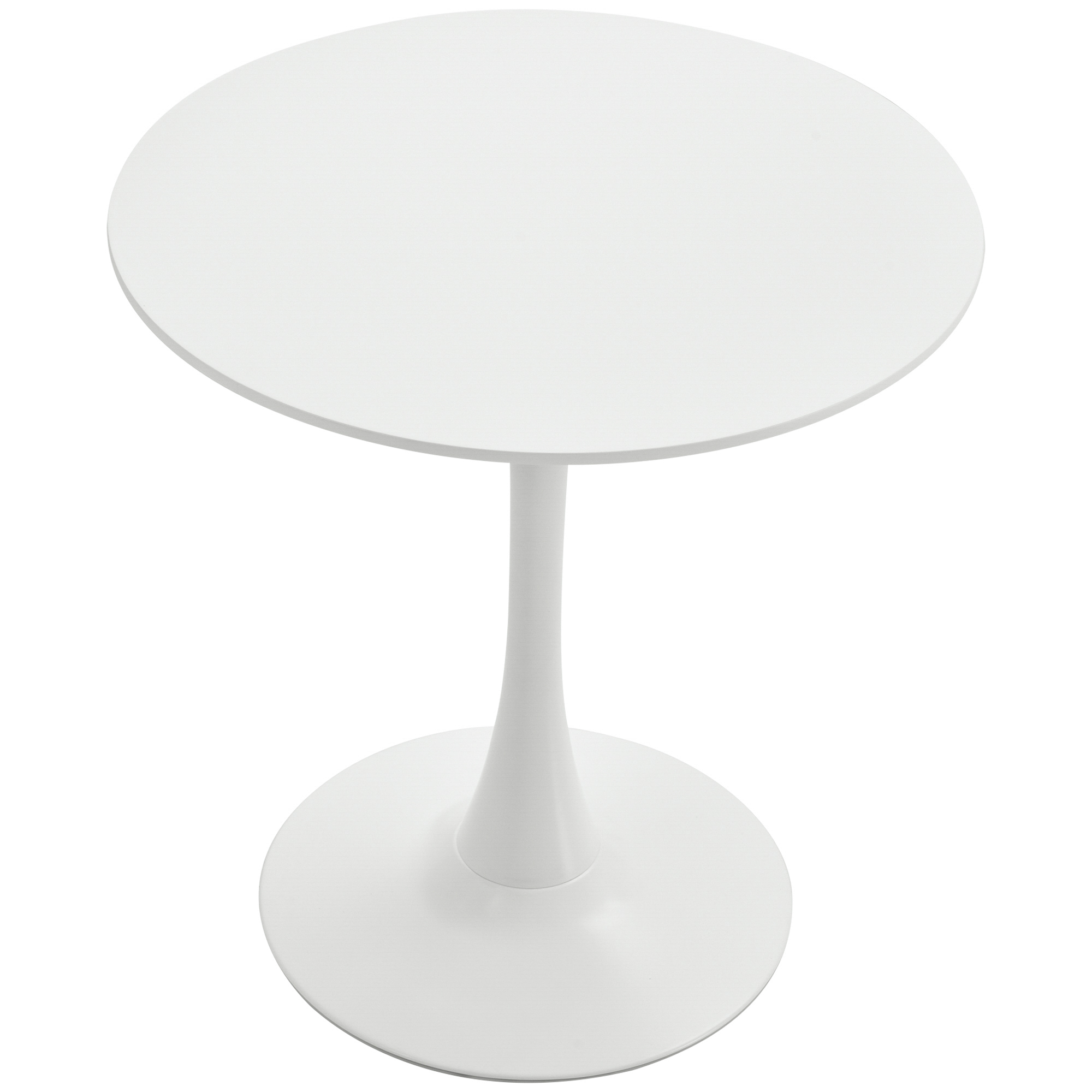 Homcom Masa de Cocktail Rotunda Minimal cu Baza din Metal Alb D70 x 73 cm imagine aosom.ro
