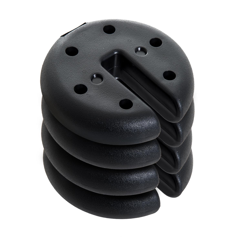 Outsunny Baza pentru Foisor 4 bucati Umplut cu Ciment 2.3kg, Φ20x4.5cm imagine aosom.ro