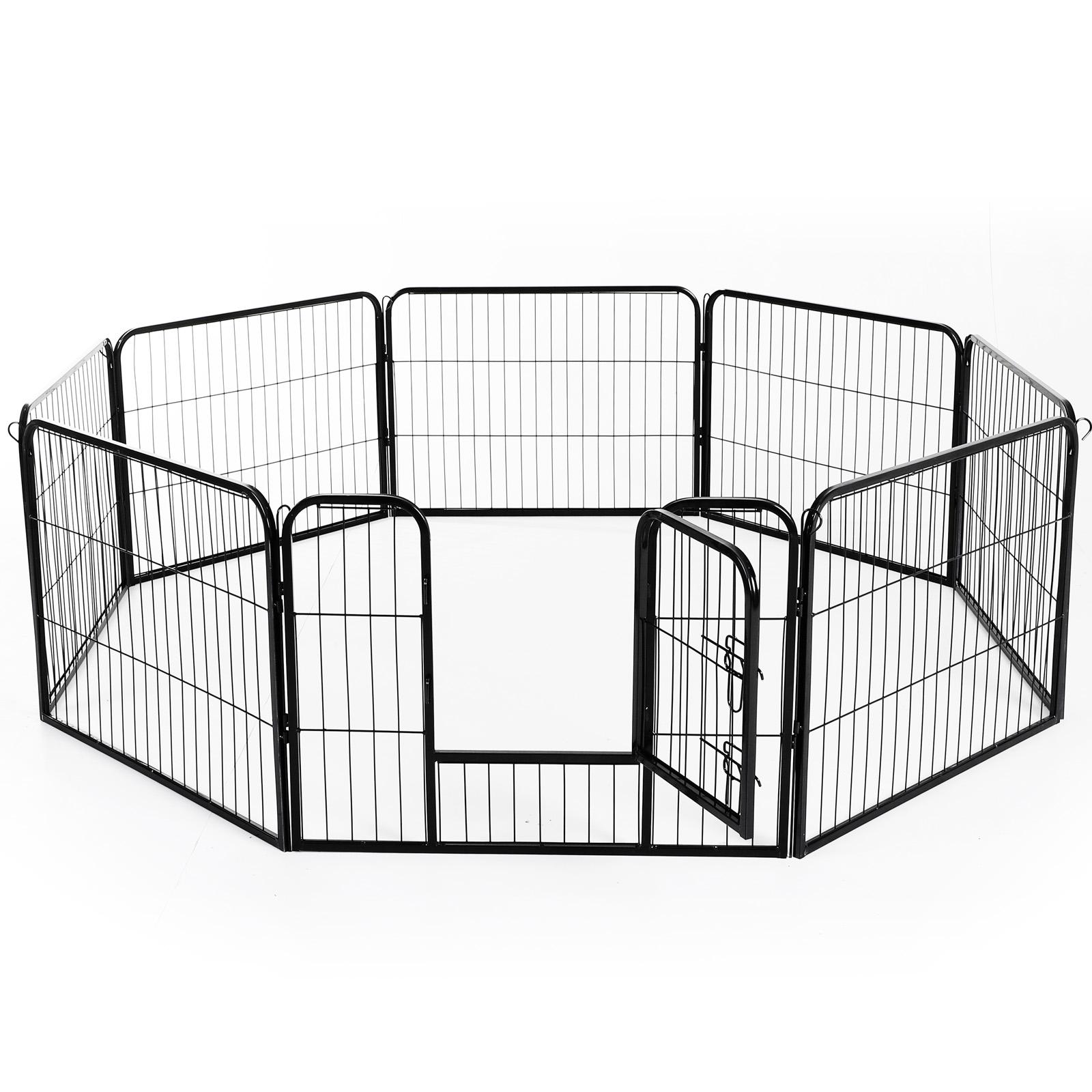 PawHut Gard pentru Animale Câini Pisici Pui Rozătoare Plasă Cușcă 8 Bucăți 80x60cm imagine aosom.ro