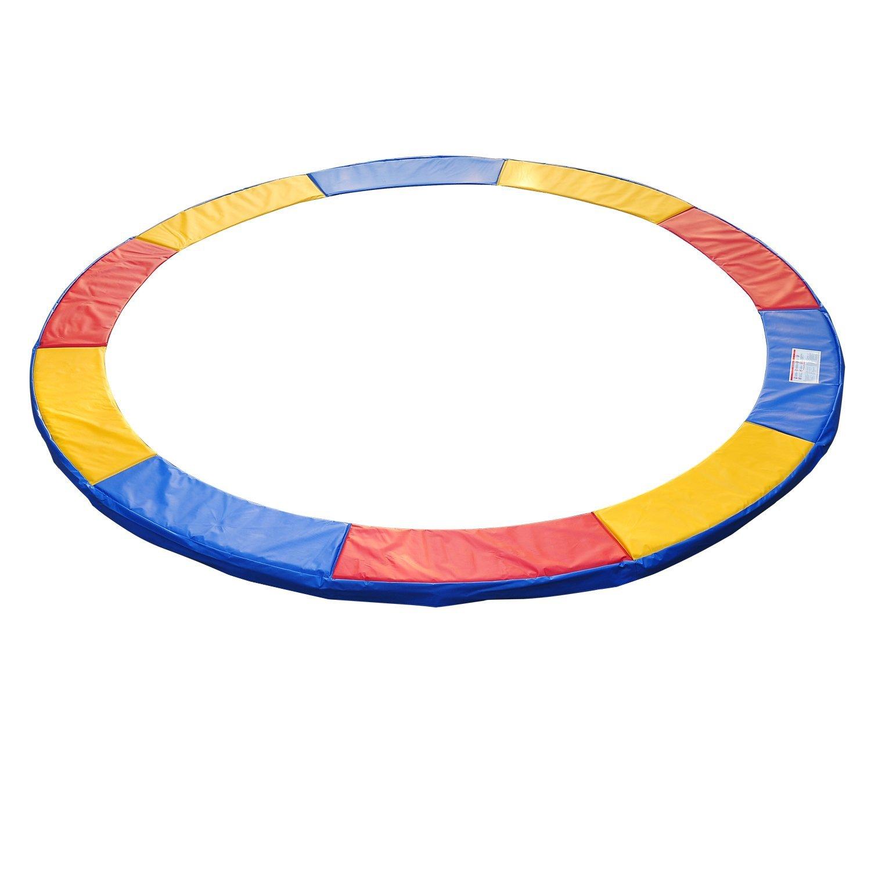 HomCom Protecție Margine pentru Trambulină Elastică din PVC Roșu Albastru Galben (Ø305cm ) imagine aosom.ro