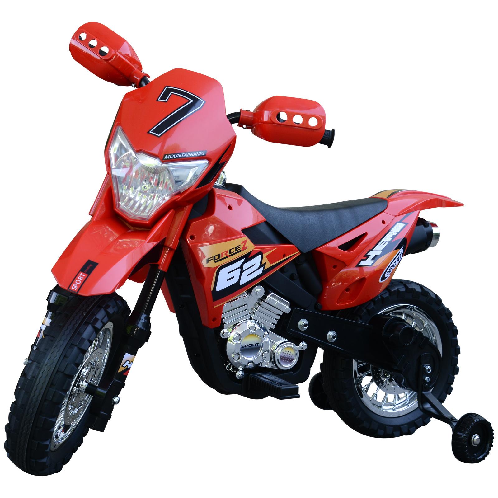 Homcom Motoreta MotoCross Electrica pentru Copii, Rosu, 107x53x70cm imagine aosom.ro