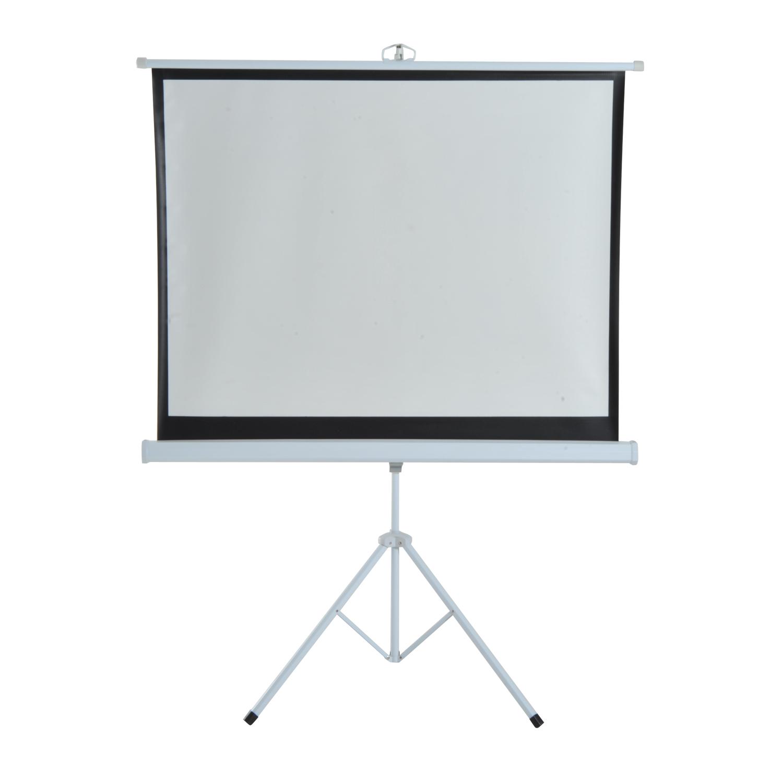 HomCom Ecran de Proiecție 100 inch Format 4:3 cu Trepied imagine aosom.ro