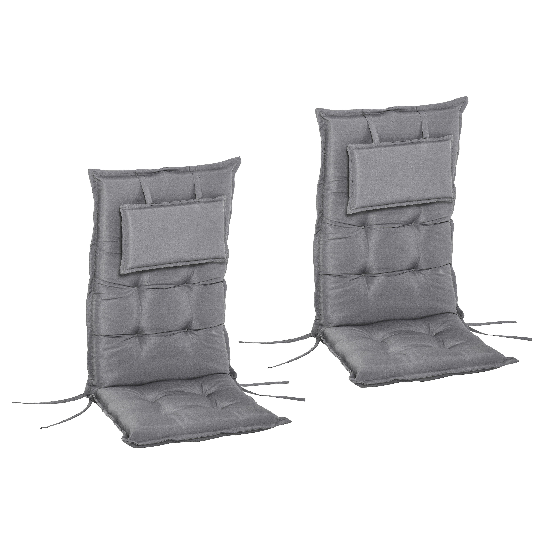 Outsunny Set de 2 Perne pentru Exterior si Interior Captusite pentru Scaune cu Spatar Inalt imagine aosom.ro