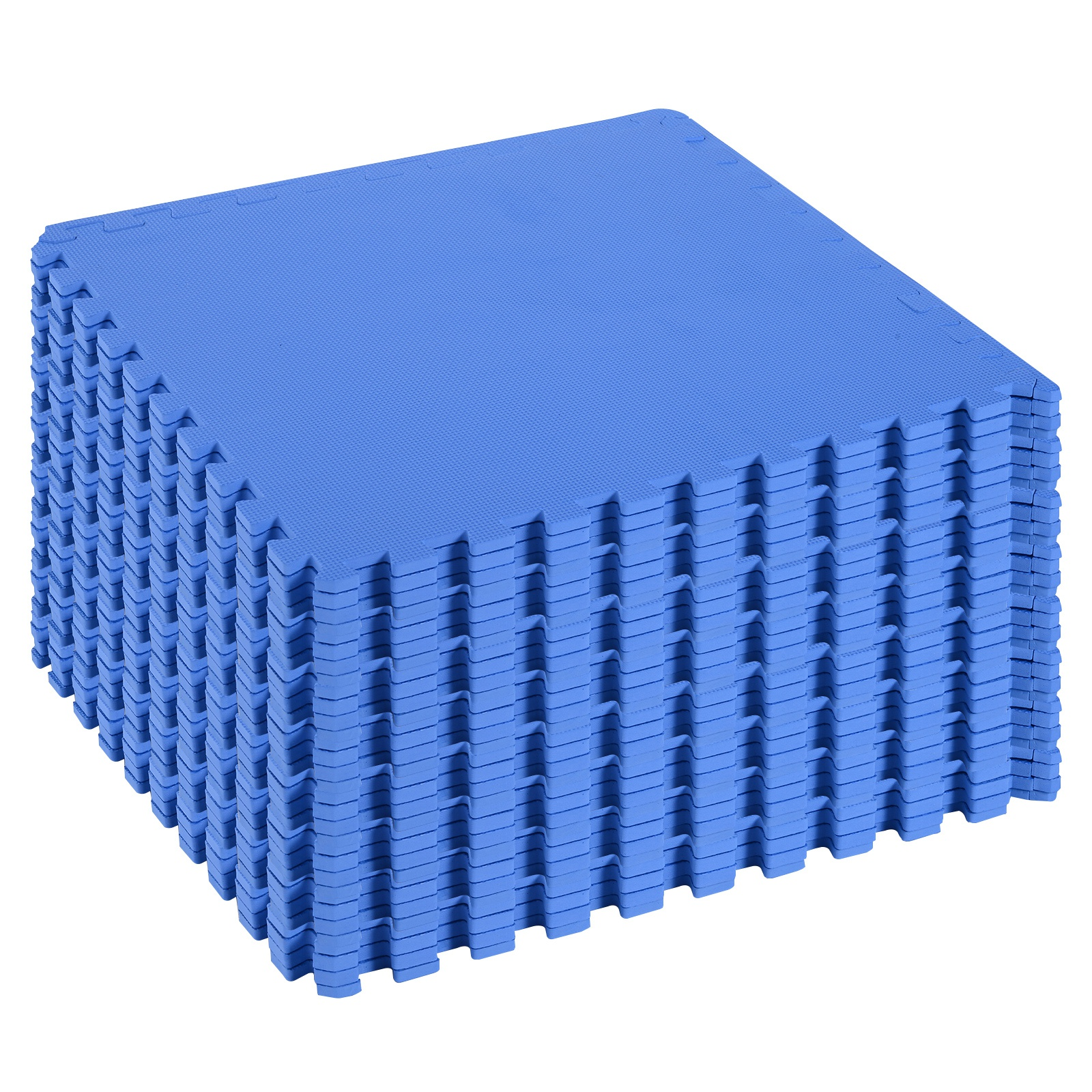 Homcom Covor Puzzle 32 Piese 63x63cm in EVA Moale Albastru imagine aosom.ro