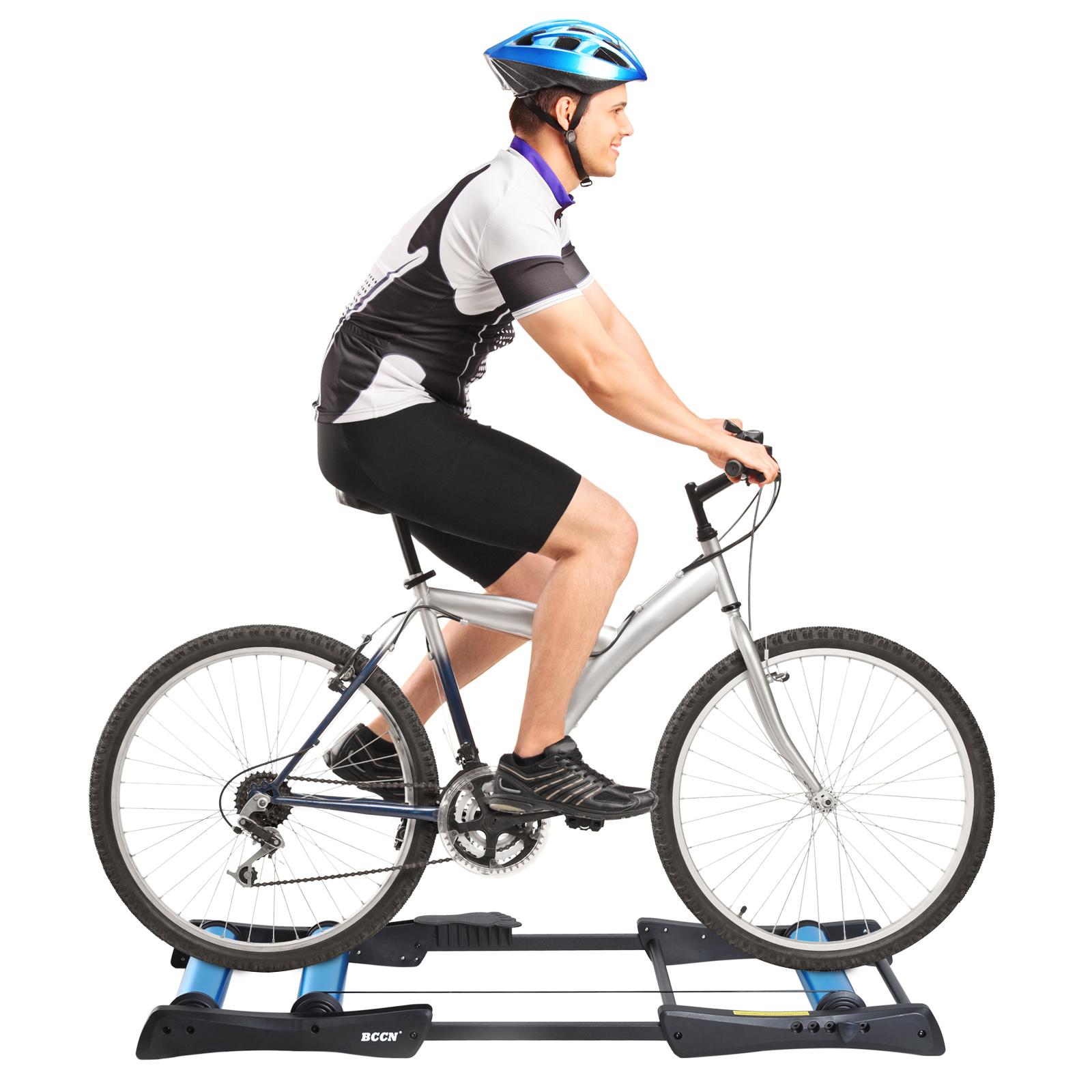 HOMCOM Biciclete Trainer Pliabil Reglabil Rulou frontal Sarcină maximă 120 kg imagine aosom.ro