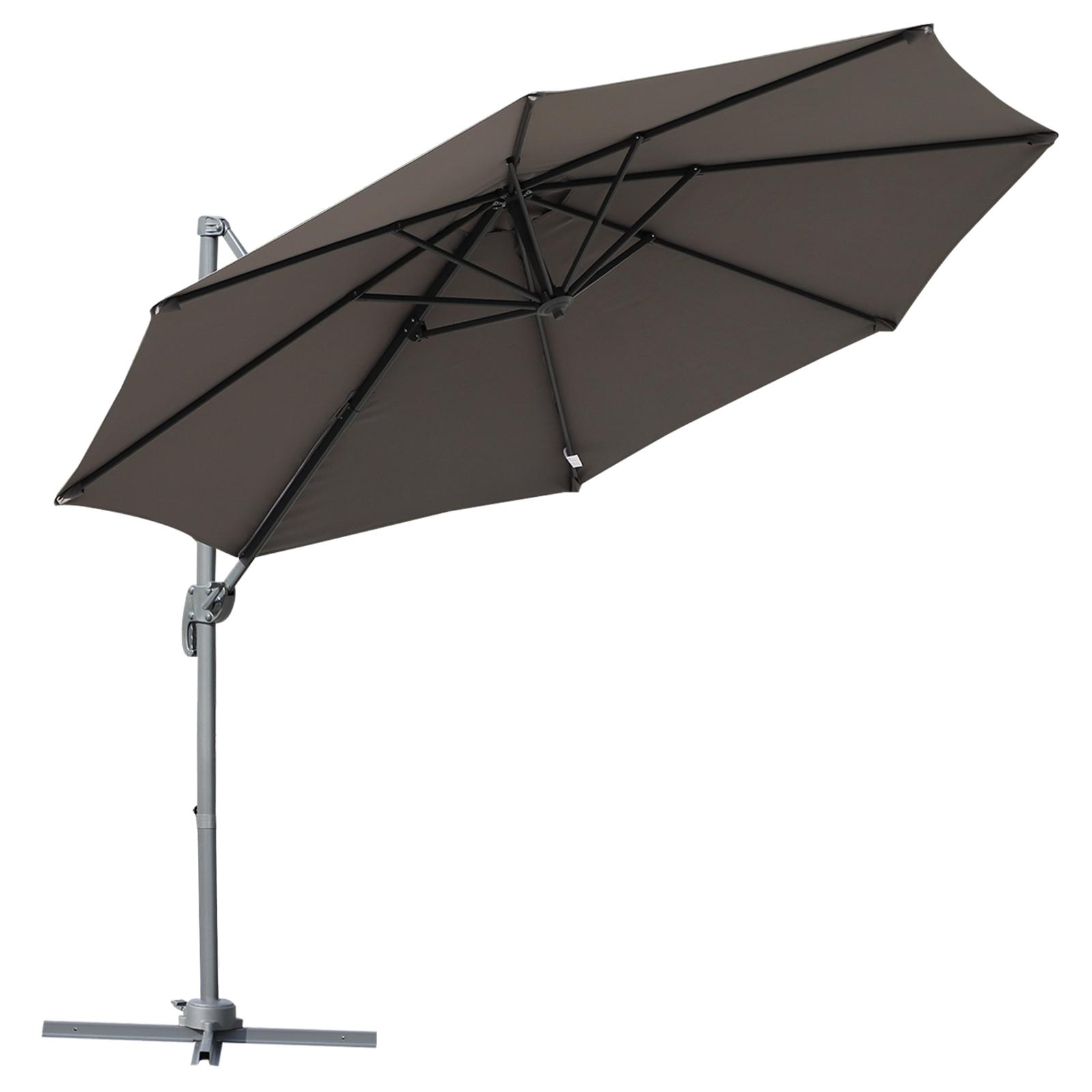 Outsunny Umbrela Soare Descentrata Unghi Inclinabil Rotatie la 360 de Gradina Φ294x248cm imagine aosom.ro
