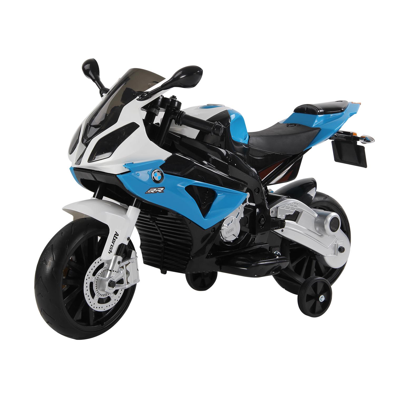 Homcom Motoreta Electrica pentru Copii BMW RR 12V, Negru si Albastru imagine aosom.ro