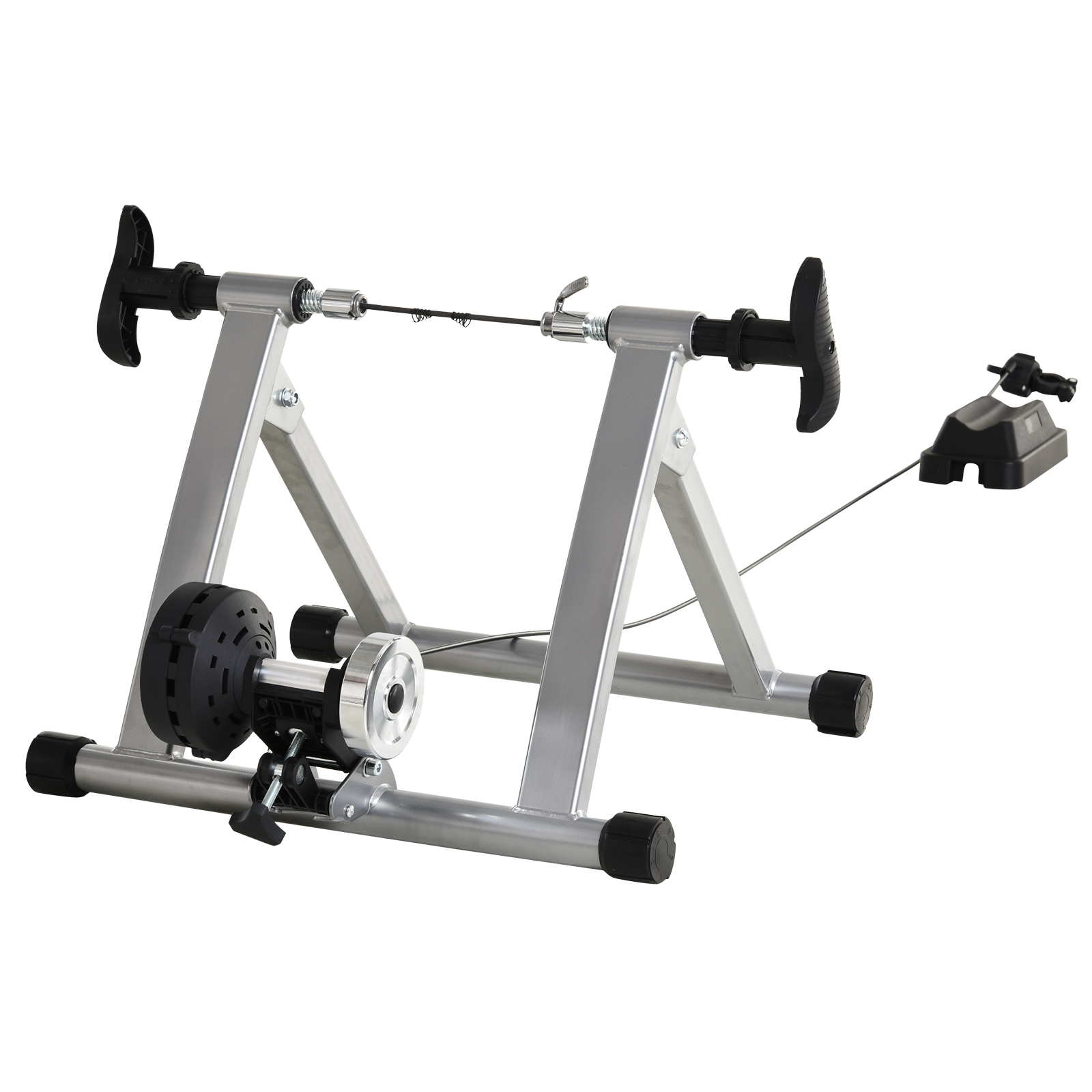HomCom Suport rolă pentru Bicicletă Magnetic pentru Antrenament Acasă, Argintiu imagine aosom.ro