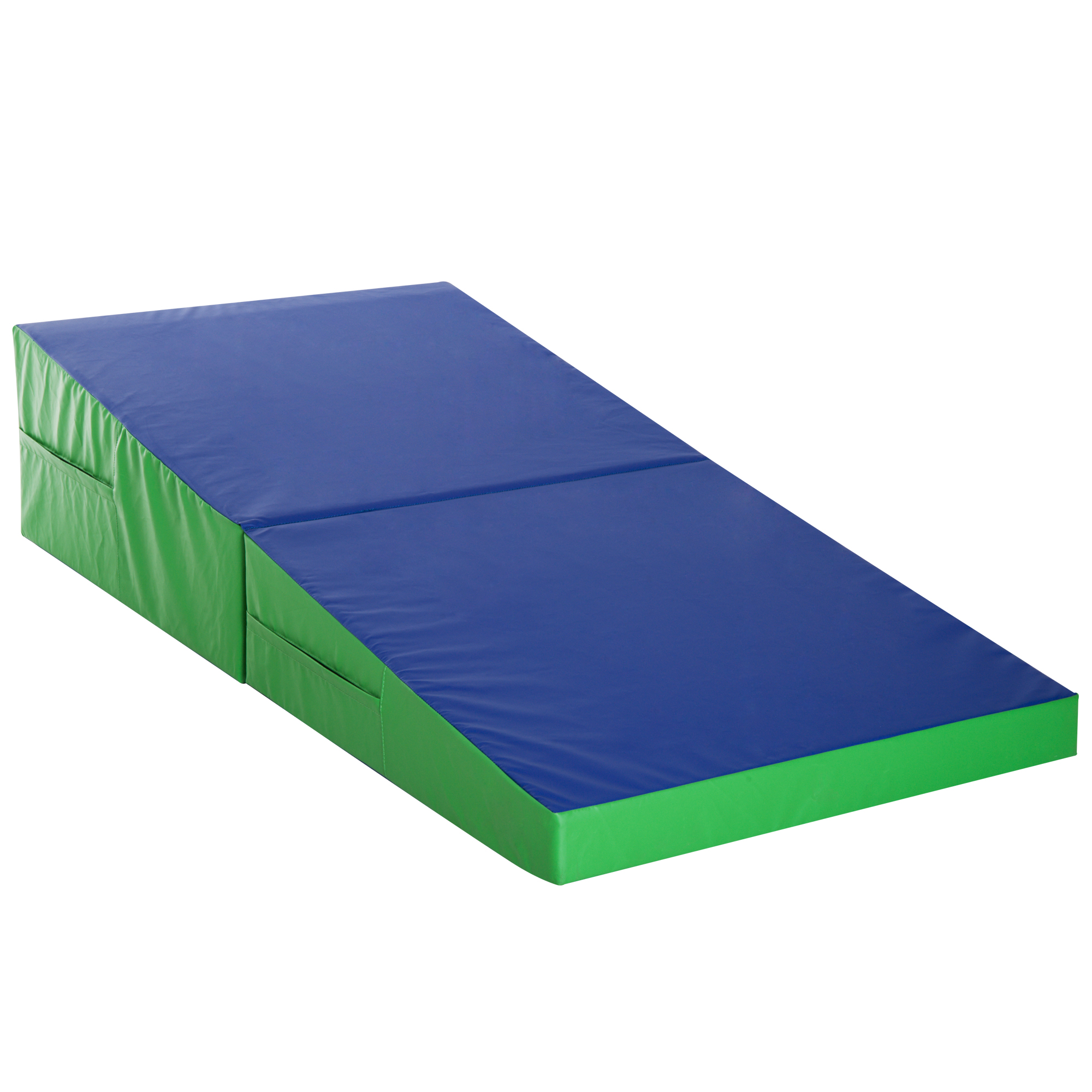 Homcom Saltea Training Pliabila pentru Fitness Gimnastica Artistica, Albastru verde, 180x90x40cm imagine aosom.ro