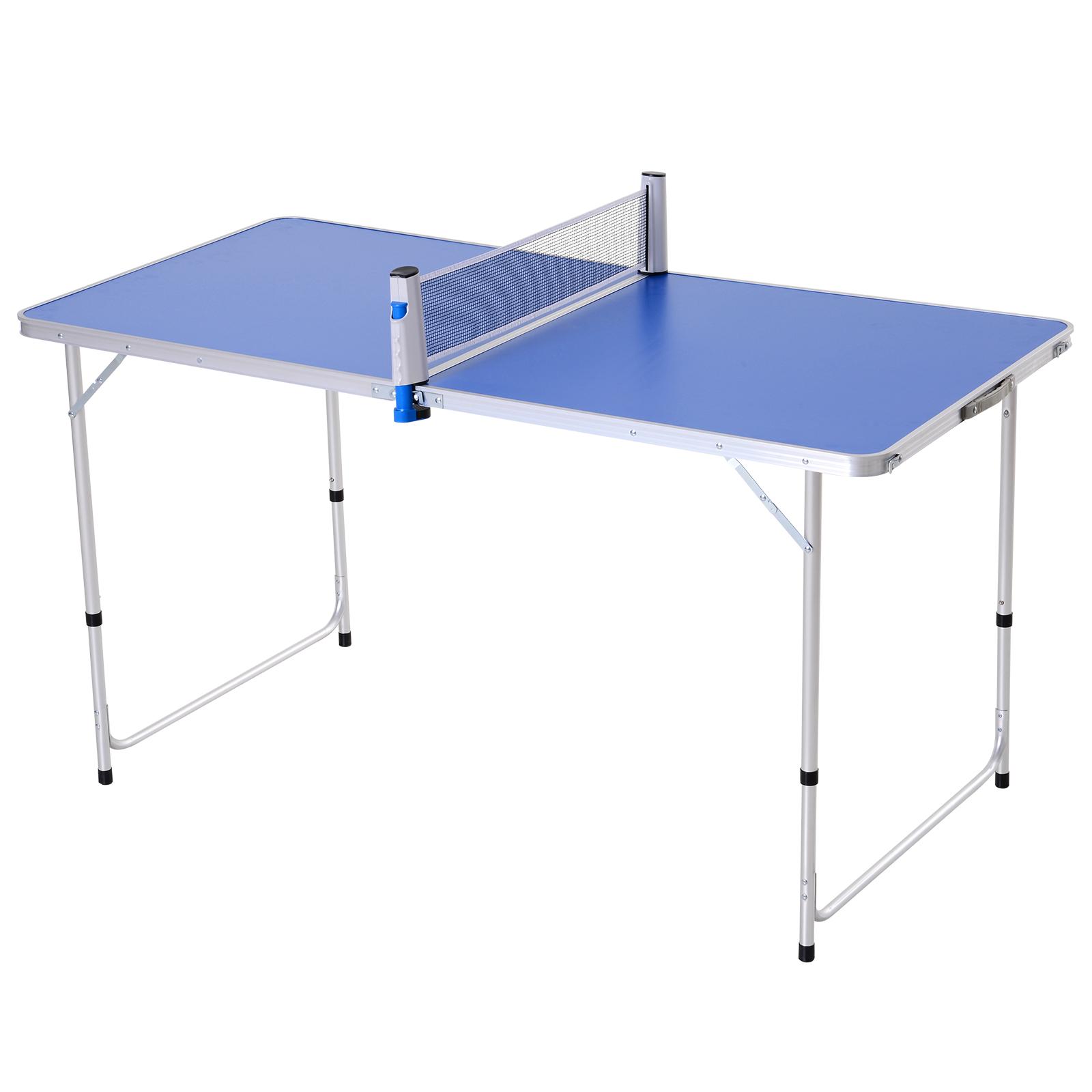 Outsunny Masa Pliabila Multifunctionala de Camping cu Plasa de Ping Pong 160 x 80 cm imagine aosom.ro