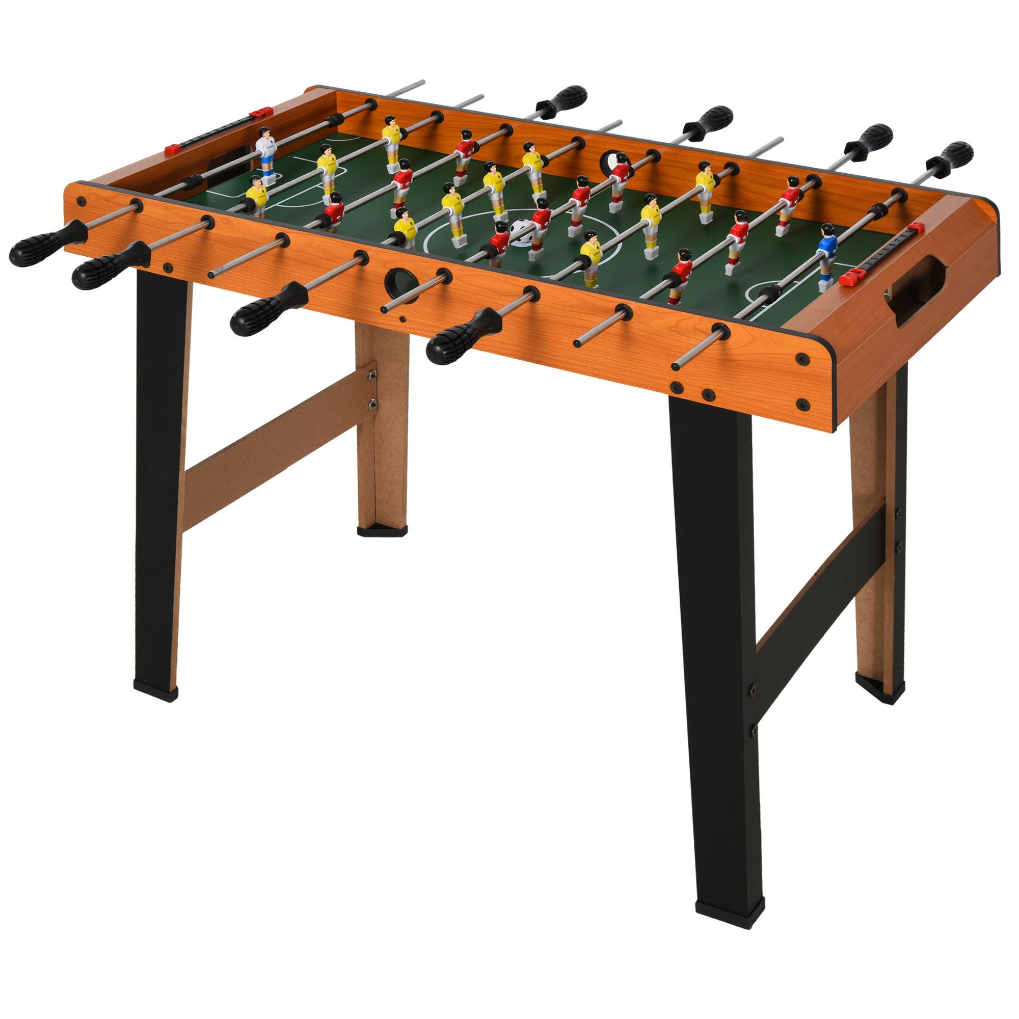 Homcom Joc de fotbal de masa cu 22 jucatori si accesorii incluse 84.5 x 40 x 62 cm imagine aosom.ro