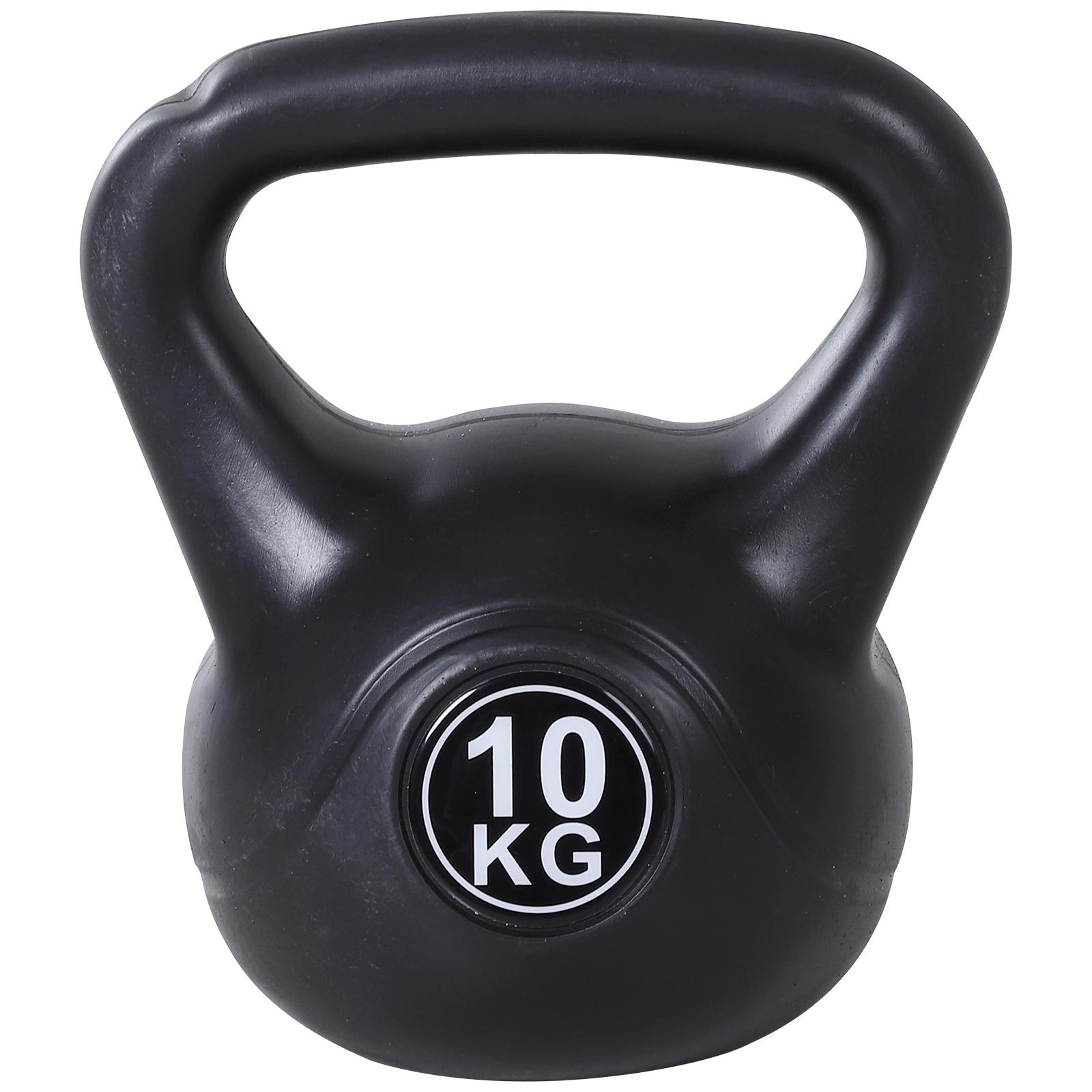 Homcom Kettlebell 10 kg pentru Antrenament Cross Training Negru imagine aosom.ro