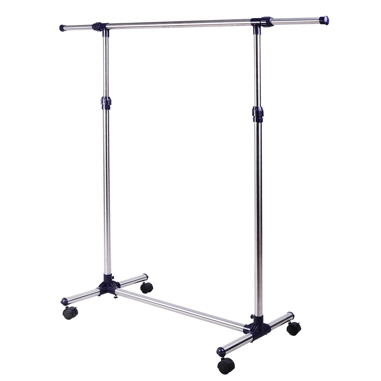 HomCom Cuier Lățime și Înălțime reglabile cu roți din Inox 160 x 170cm imagine aosom.ro