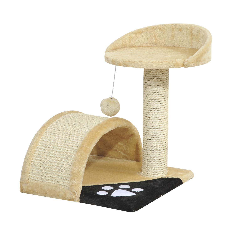 PawHut Ansamblu de Joacă pentru Pisici penrtu Joc și Relaxare 36x36x44cm Bej imagine aosom.ro