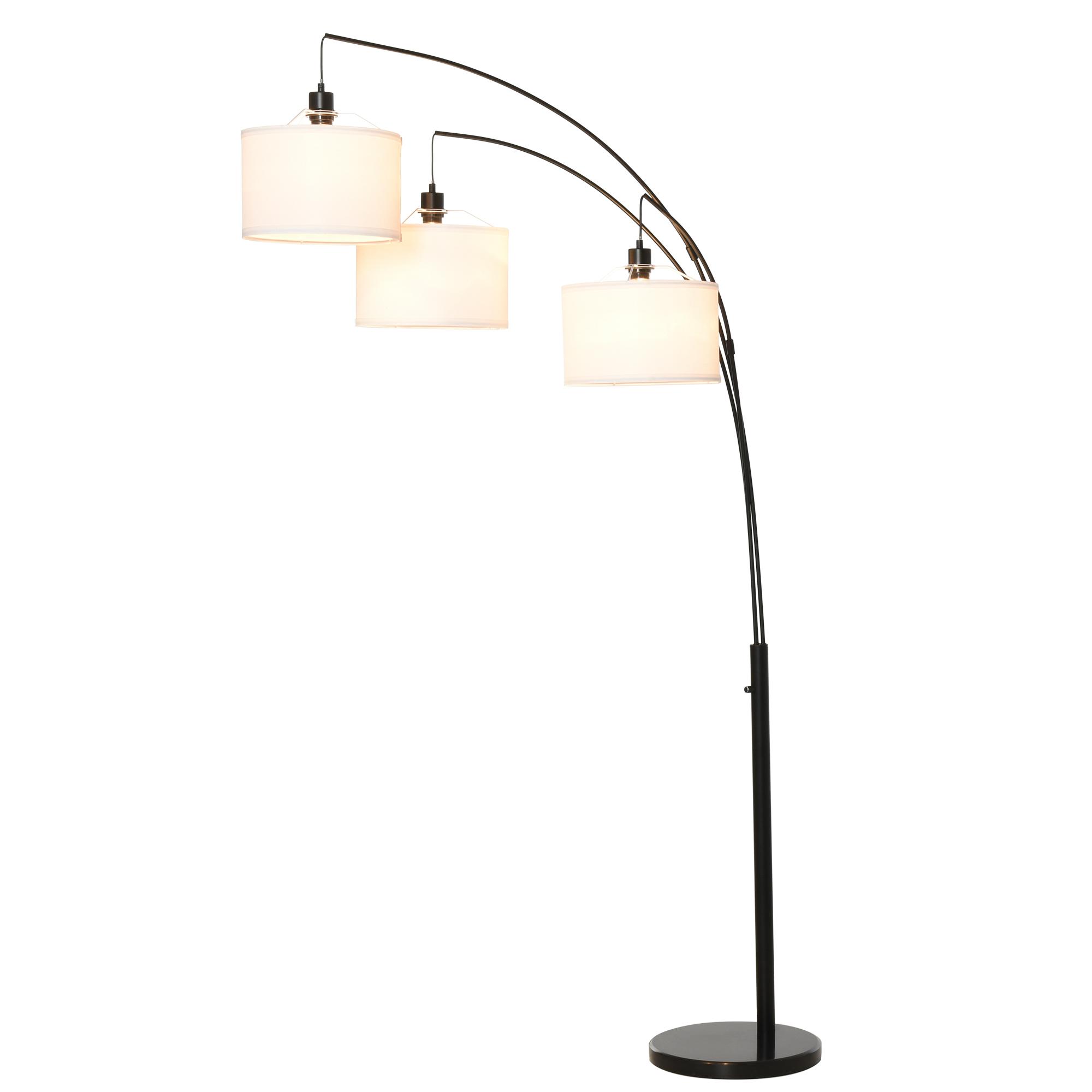 HOMCOM Lampa de Podea cu 3 Lumini si Brate Flexibile Baza din Marmura Inaltime 205cm imagine aosom.ro