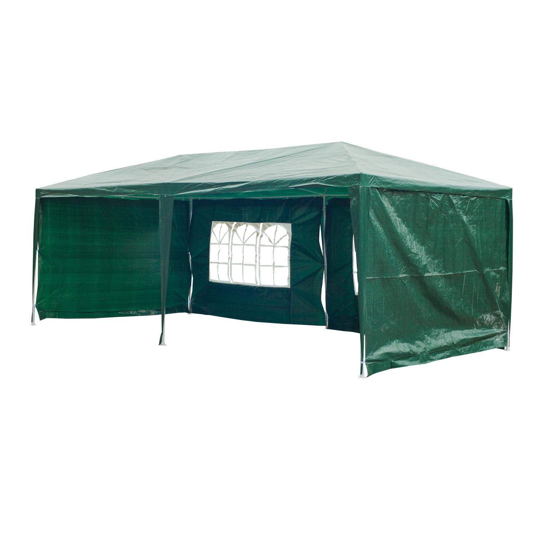 Outsunny Pavilion penrtu Extern Impermeabil din Oțel și PE cu Panouri Detașabile, Verde, 3x6m imagine aosom.ro