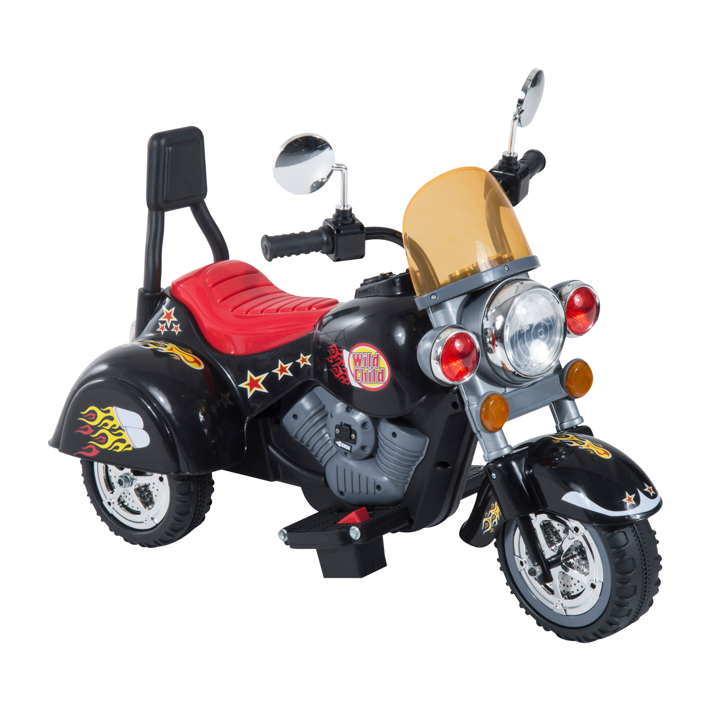 Homcom Motoreta Electrica pentru Copii cu 3 Roti 6V, Negru imagine aosom.ro